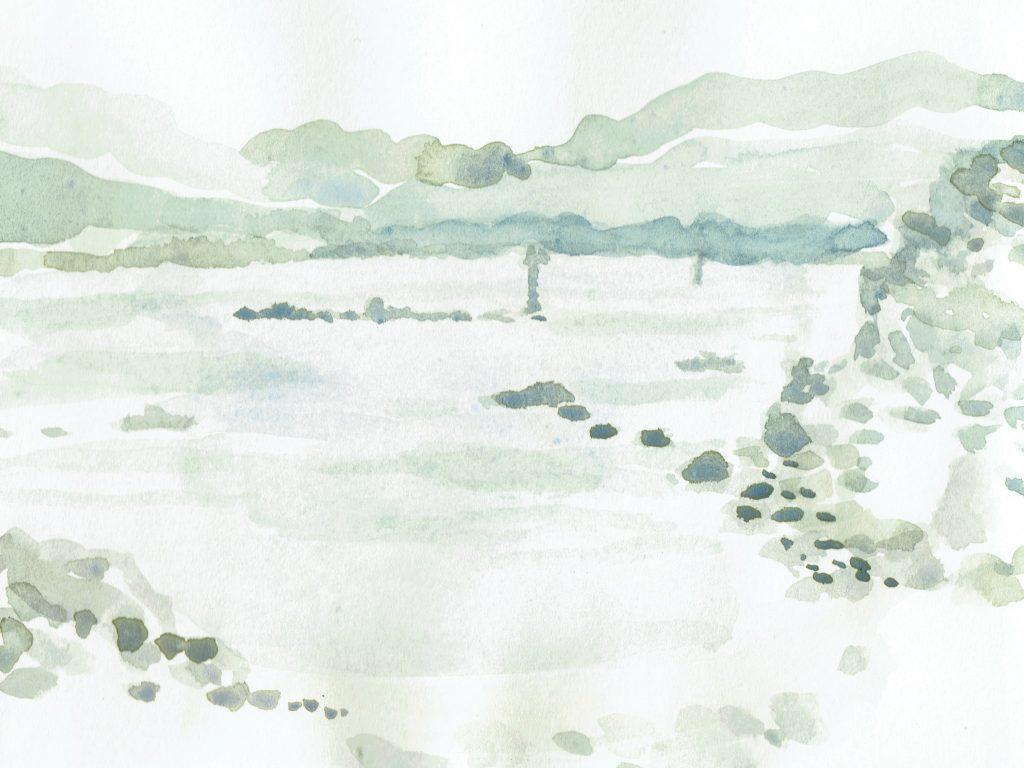 Eigg-watercolour